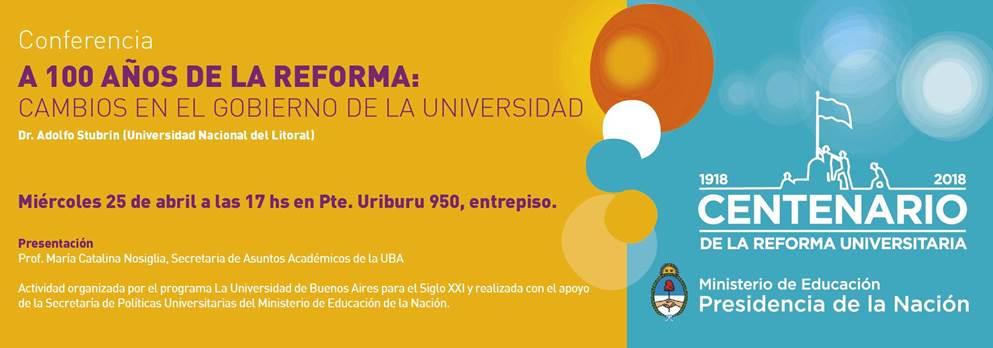 Conferencia - 100 años de la Reforma